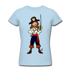 Piraten meisje T-Shirt
