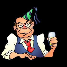 Drunken man on a birthday party fc