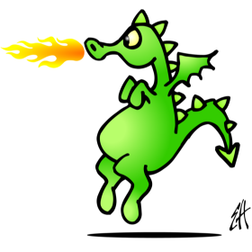 Fire breathing dragon fc