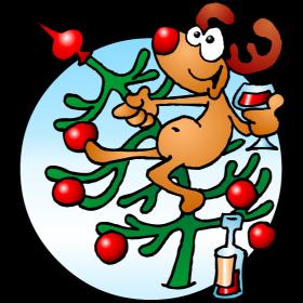 Reindeer in a Christmas tree fc