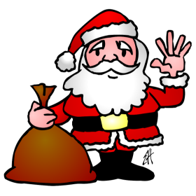 Santa Claus waving fc