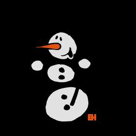 Snowman dancing tc